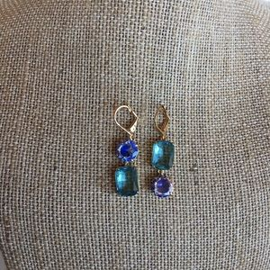 K Spade Shine On Mismatched Crystal Drop Earrings